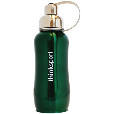 Thinksport Stainless Steel Insulated Bottle, 25 Oz, Color: Green, 2 Pack