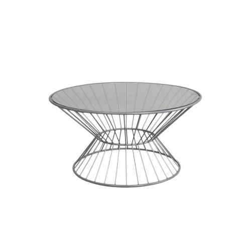 Wire Framed Coffee Table with Glass Top