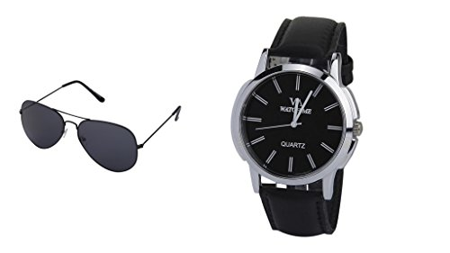 Watch Me Gift Combo Set Of Watch And Sunglasses For Men By WM