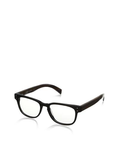 Ivory + Mason Men's Bluebird Eyeglasses, Shiny Black/Walnut