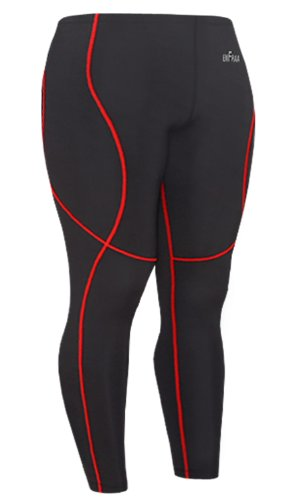 Emfraa Skin Tights Compression Pants Mens Womens Leggings Running Baselayer Black S ~ 2XL