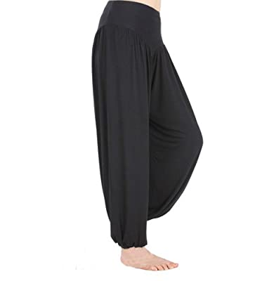 HOEREV® Super Soft Modal Spandex Harem Yoga/ Pilates Pants
