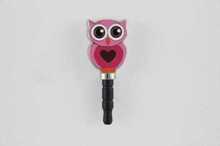 I-Takz - Pink Owl - Securely Plug Into Your Smartphone'S Headphone Jack And Prevent Tiny Dust Particles From Entering Your Port