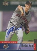 Justin Reid Altoona Curve - Pirates Affiliate 2002 Upper Deck áAutographed... by Hall of Fame Memorabilia