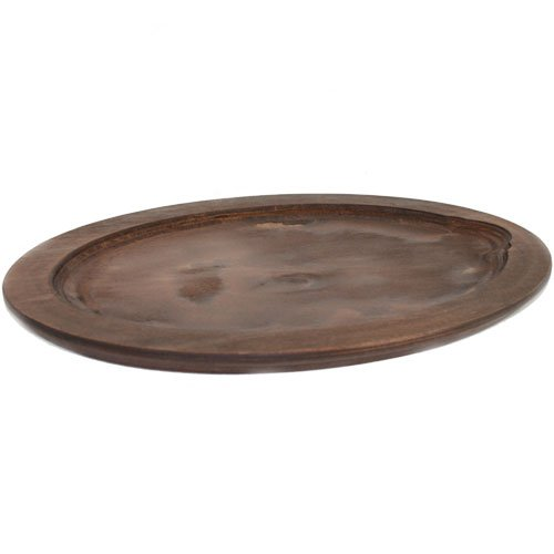 Fajita Griddle Oval Lacquered Birch Underliner