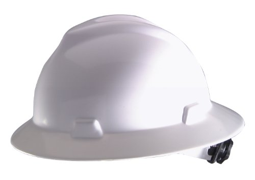 MSA Safety Works 10006318 Full Brim Hard Hat, White (Msa Hard Hat Full Brim compare prices)