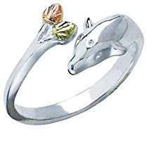 buy Black Hills Silver Toe Ring With Dolphin