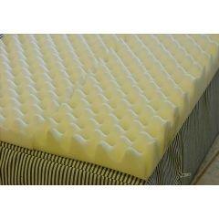 """Foam Eggcrate Mattress Overlay - Size Full - 50"""" X 72"""" X 4"""" front-536410"""