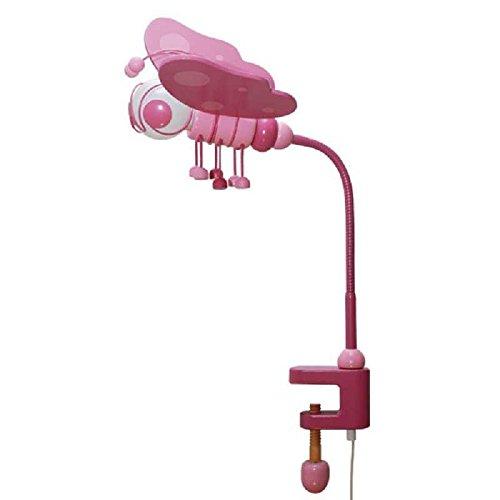 Schreibtischlampe Lampe Tischklemme Schmetterling 0306.06 Rosa Lila