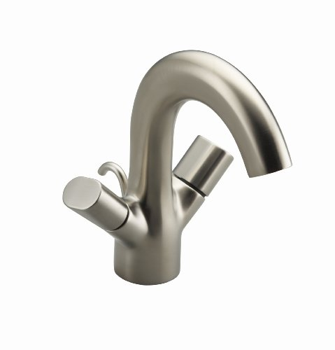 KOHLER K-10085-9-BN Oblo Two-Handle Monoblock Lavatory Faucet, Vibrant Brushed Nickel