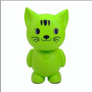 New Arrival Novelty Cartoon Cat Led Study Working Reading Lamp Desk Lamp Energy Saving Night Light Bedroom Lighting Tool Bedside Table Lamp Super Bright Reading Lights Lamp Lantern Personalized Charging Led Lighting Home Decoration Ornaments(Green)