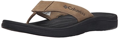 Columbia Men's Dockflip II Sandal, Flax/Black, 10 D US