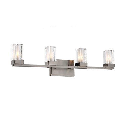 Murray Feiss Vs51004 Tonic 4 Light Ada Bathroom Vanity Light, Brushed Steel