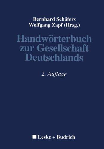 Handwörterbuch zur Gesellschaft Deutschlands (German Edition)