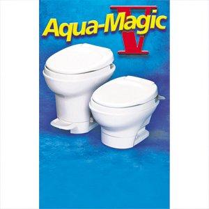 Thetford Aqua Magic V Hand Flush Low Profile White Toilet # 31646