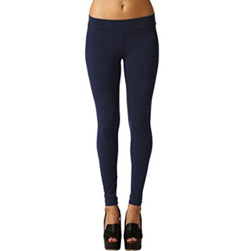 Matty M Ladies Legging (Thicker Material) -Navy Blue, Large