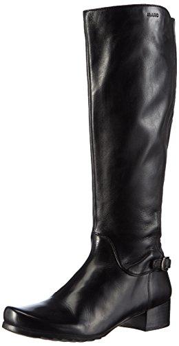 Marc ShoesMadina - Stivaletti a gamba lunga mod. Classics, imbottitura pesante donna , Nero (Schwarz (black 100)), 39