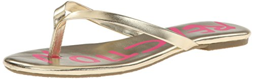 Kenneth Cole Reaction Walk On The Tune Flip Flop (Little Kid/Big Kid),Light Gold,4 M Us Big Kid front-974137