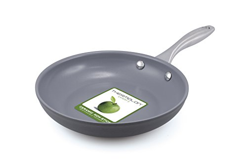 "GreenPan CW0002858 Lima 8"" Hard Anodized Open Frypan Coated with Thermolon Healthy Ceramic Non-Stick, PFOA Free, Lead and Cadmium Free, Oven and Broiler Safe"