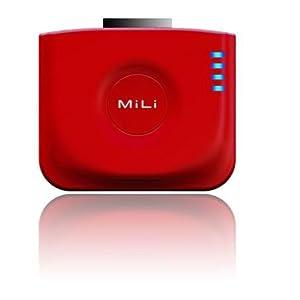 【クリックで詳細表示】MiLi Power Angel External Battery 1200mAh With Stand For iPhone/iPod(レッド): 家電・カメラ