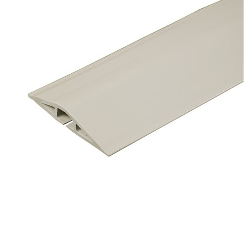 C2G/Cables To Go 16323 Wiremold Corduct Overfloor Cord Protector, Ivory (5 Feet) (Cord Protector Cover compare prices)