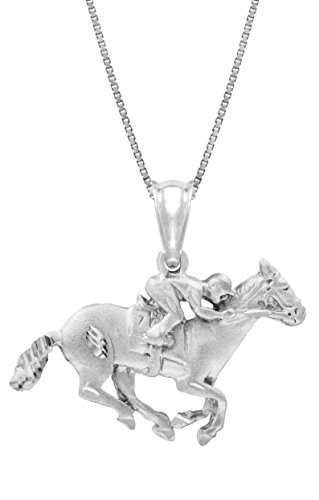 sterling-silver-race-horse-with-jockey-necklace-pendant-with-18-box-chain