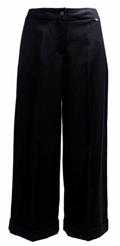 Pantalone Donna TWIN-SET SA624D Misto cotone Pantagonna Autunno Inverno 2016 Nero XS