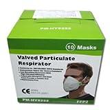【5箱セット】黄砂やPM2.5対策に!上級グレードマスク PM-HY8222マスク 10枚セット【FFP2,N99マスク,濾過率99%,抗ウィルス,防塵,縦折りたたみ型,耐油性,排気弁付】