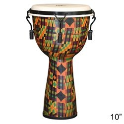 X8 Drums & Percussion X8-Dj-Kt-M-S Kente Cloth Mechanically Tuned Djembe Drum, Small