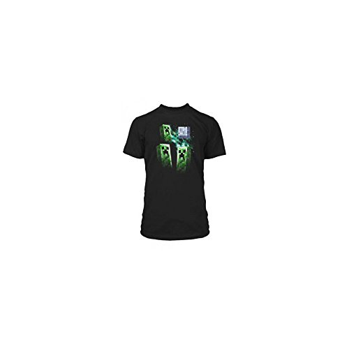 Minecraft-Camiseta-Premium-Three-Creeper-Moon-talla-M