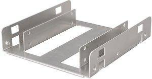 "Solid Steel SSD / HDD 2.5"" to 3.5"" Mounting Bracket / Kit (Silver Steel)"