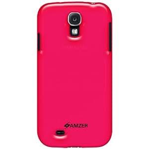 Amzer 95591 Soft Gel TPU Gloss Skin Case - Translucent Hot Pink for Samsung GALAXY S4 GT-I9500