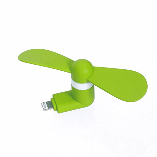 StyleTech Inc. Portable Cool Mini Rotating Fan for Apple Lighting Port Compatible with iPhone/iPods/iPad (1.) Green) (Cyclone Inline Fan compare prices)