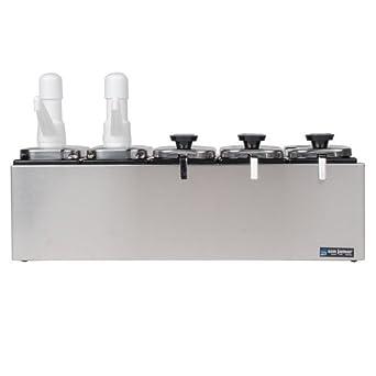 "San Jamar P9723 Stainless Steel Topping Bar, 22-1/2"" Width x 12-1/2"" Height x 12-1/8"" Depth"
