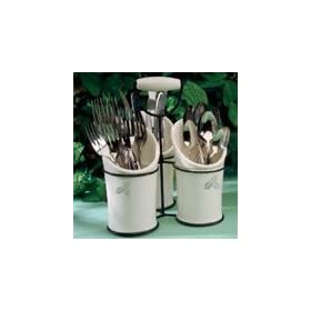 Ceramic Utensil Holder Caddy: Home & Kitchen