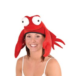 Plush Crab Hat Party Accessory (1 count) (1/Pkg) by The Beistle Company