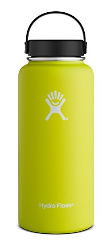 Hydro Flask 40 oz Vacuum Insulated Stainless Steel Water Bottle, Wide Mouth w/Flex Cap, Citron (Hydro Seal compare prices)