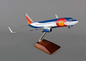 Skymarks Southwest Boeing 737-700 1/100 Scale Colorado W/WOOD Stand & GEAR Constructed from Plastic Quality Airplane Model / Narrow-body Jet Airliner / Unique and Perfect Collectible Gift Idea / Aviation Historical Replica Gift Toy