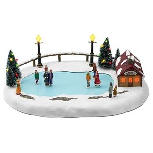 Mr. Christmas Animated Musical Winter Wonderland Skating Pond Decoration #36726