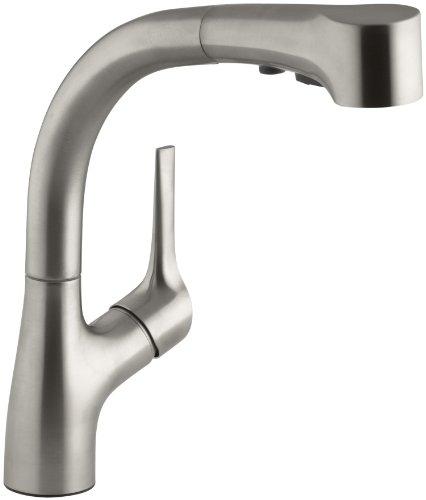 KOHLER K-13963-VS Elate Pullout Kitchen Faucet, Vibrant Stainless