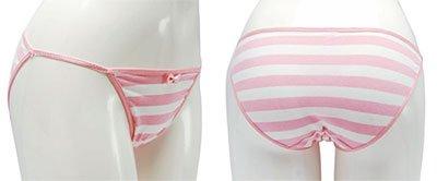 縞パン 1/1リアルバージョンストリングショーツ (ピンク) サイズM