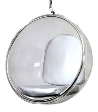 Transparent Aarnio Bubble Chair in Silver