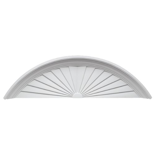 Fypon sp56 57 w x 16 3 4 h x 4 1 2 p sunburst pediment - Decorative exterior door pediments ...