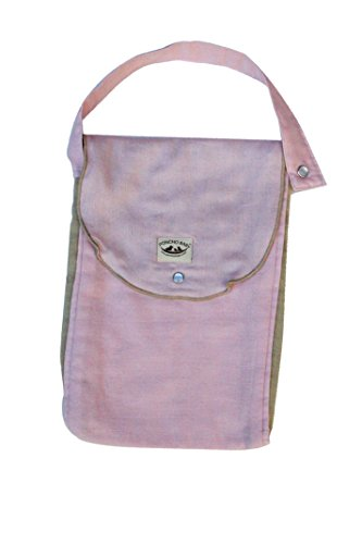Poncho Baby Organic Diaper: Bag, Pack-N-Run Pink/Beige
