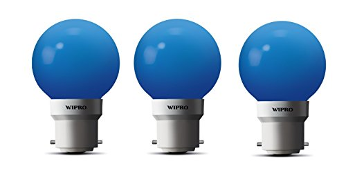 Wipro-0.5W-LED-Bulb-(Blue-,-pack-of-3)