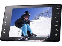 Aiptek P8 3D Digitaler Bilderrahmen (20,3cm (8 Zoll) Display, für 3D und 2D Foto- und Videowiedergabe, SD Kartenslot, 128MB Speicher, Fernbedienung) schwarz