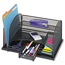 Safco Model Black,Organizer with Three Drawers