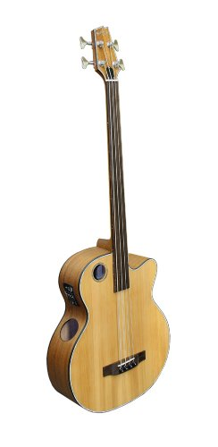 Boulder Creek EBR3-N4F Acoustic-Electric 4-String Fretless Bass