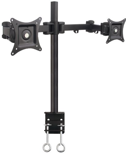 """Dual Lcd Monitor Desk Mount Stand Heavy Duty Fully Adjustable Fits 2 /Two Screens Up To 27"""" ~ (By Vivo)"""