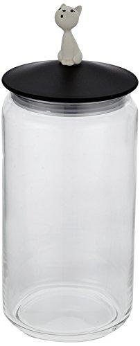 Alessi - AMMI22 B - LulàJar Pot Aliments Chiens - Noir